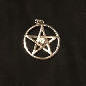 Jewelry - .925 Sterling Silver Pentacle Pentagram Pendant